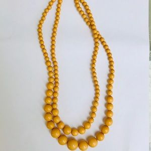 Mustard Yellow Beaded Necklace